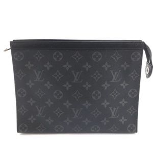 Pochette Voyage Rare Black Monogram Eclipse Clutch
